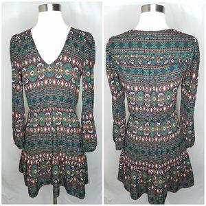 Dolce Vita geometric long sleeve mini dress